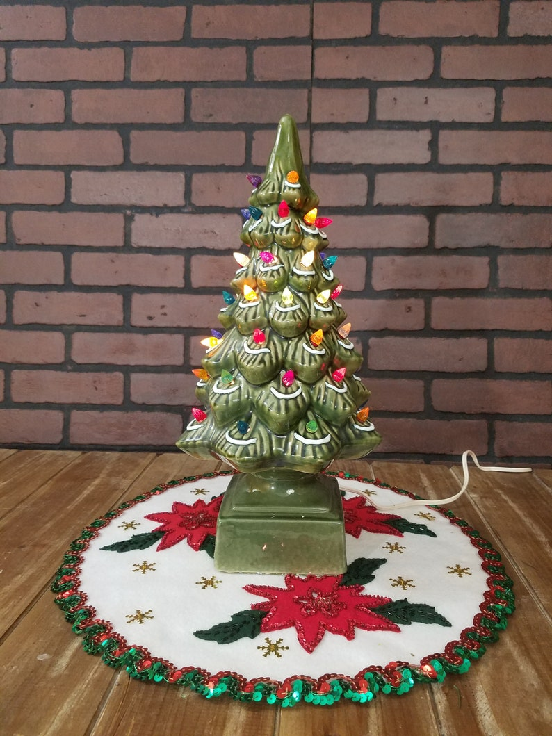 Vintage 17 Ceramic Christmas Tree Made For Kmart
