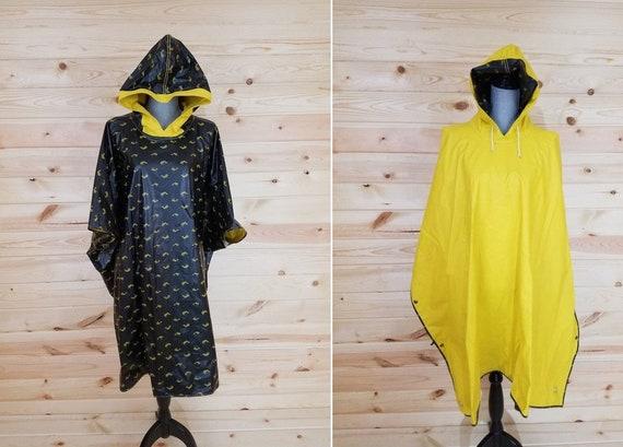Yellow Rain Jacket/Poncho/Coat Size Large L with B
