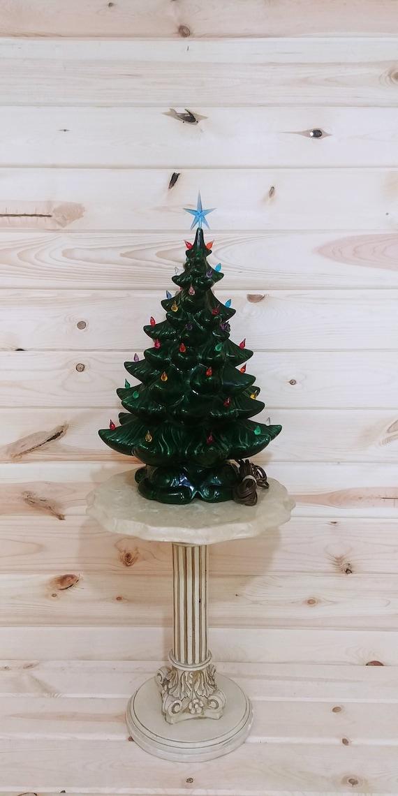Vintage 19 Atlantic Mold Ceramic Christmas Tree | Etsy