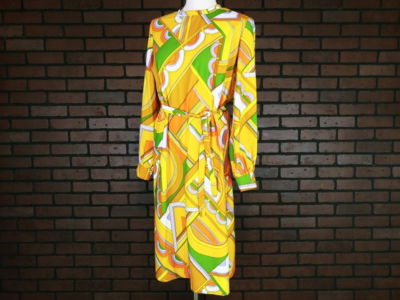 Yellow, Orange & Green Mod Dress