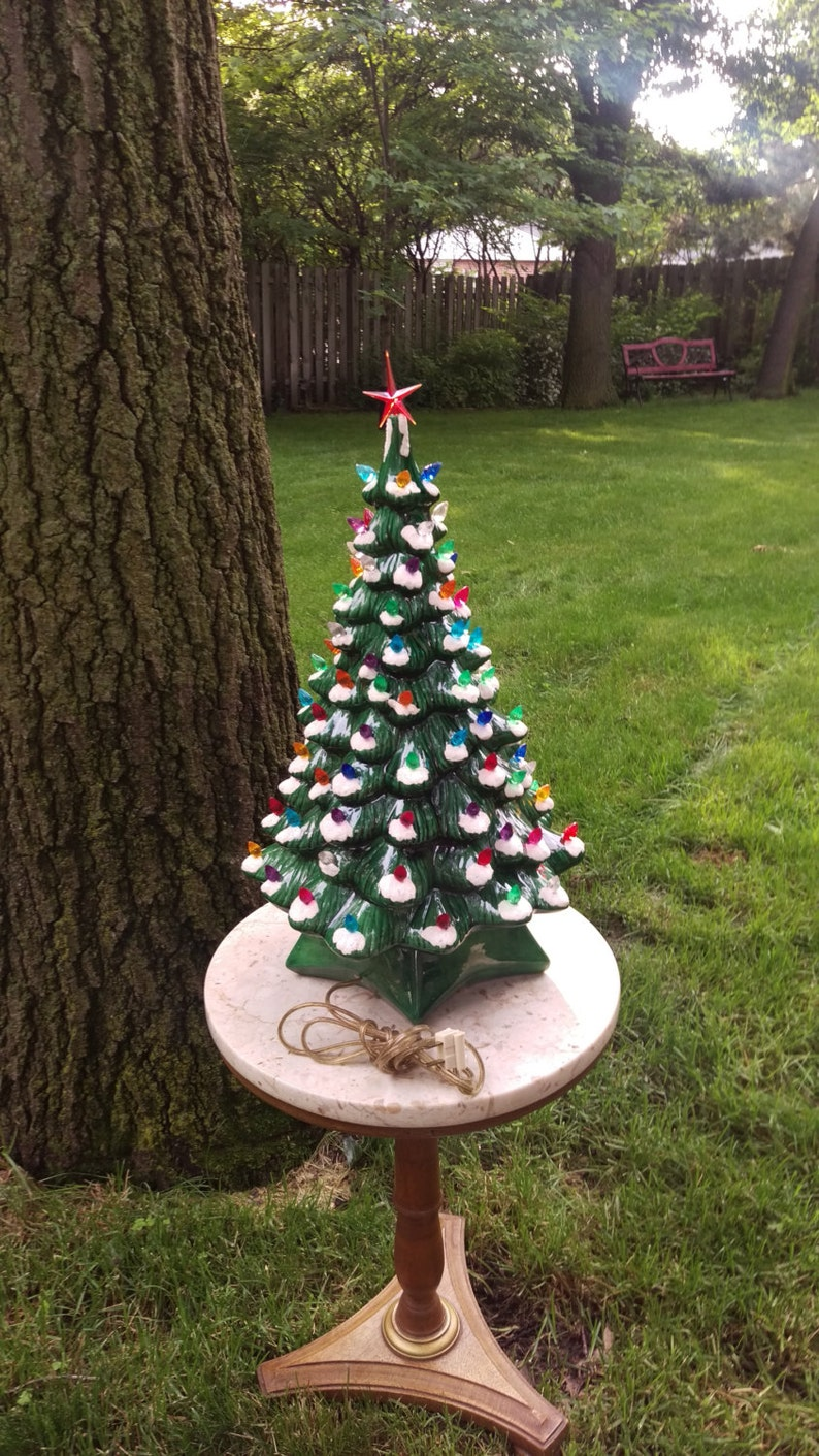 Vintage 19 Holland Mold Ceramic Christmas Tree
