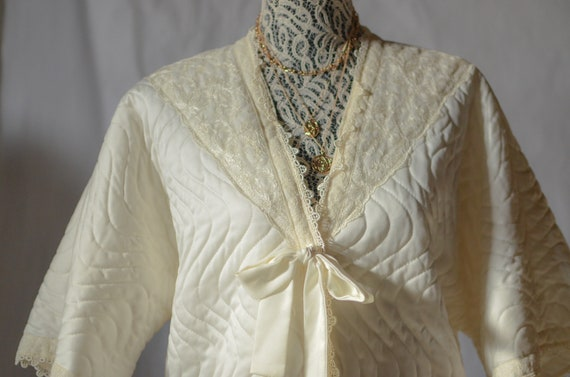 Vintage Christian Dior White Quilted Jacket