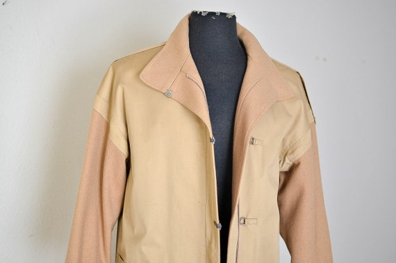 Vintage  Oversized Tan Trench Coat/ Minimalist Men