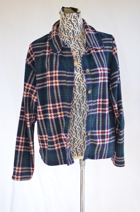 90 Flannel  Jacket large / Grunge Flannel / 90s A… - image 2