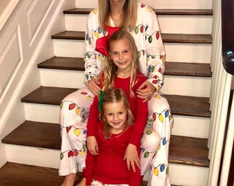 01771cd8d6 2019 - Christmas Pajamas Pre Order by July 1 for September Delivery Christmas  Pajamas, Christmas Lights Pajamas,Organic Pajamas,Polar Expess
