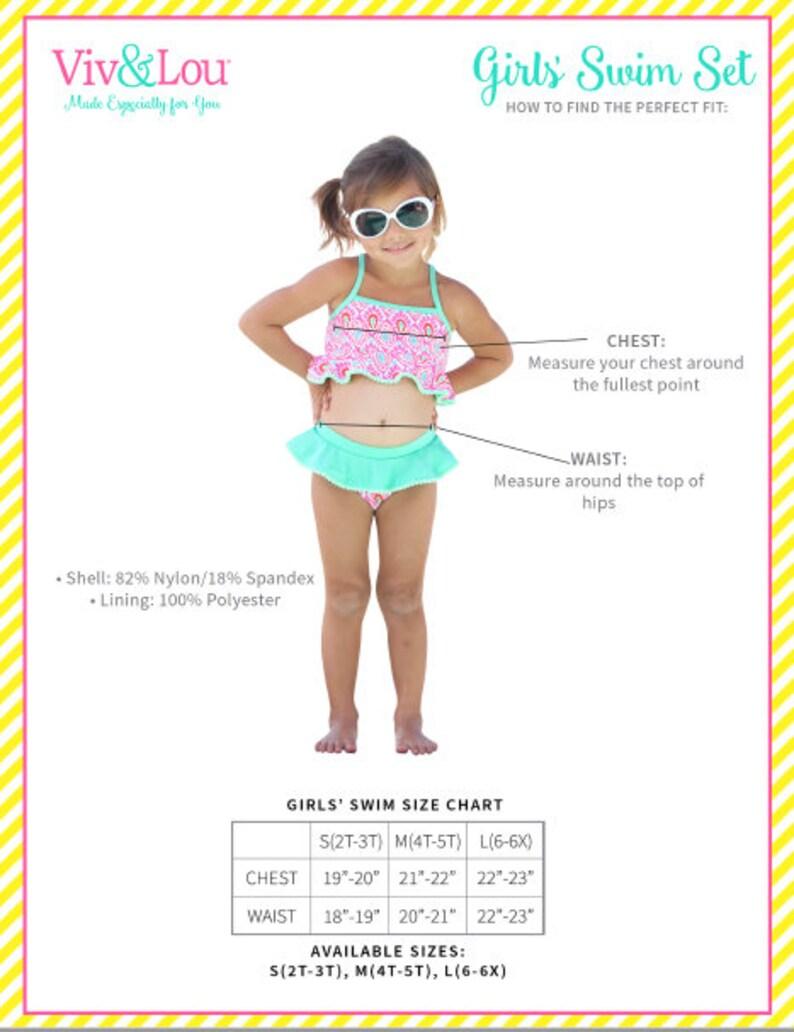 41631831b3 2019 Monogrammed Kids Swim Wear Girls Swim Wear Girls | Etsy