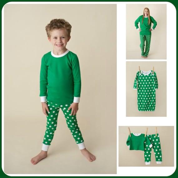 Next Christmas Pyjamas 2019.2019 Christmas Dot Pj S Personalized Green And White Dots Family Pajama S Monogrammed Holiday Pajamas