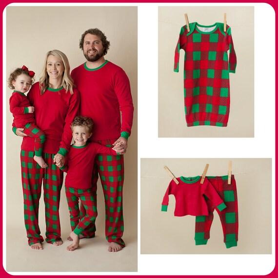 Next Christmas Pyjamas 2019.2019 Christmas Plaid Pj S Personalized Red And Green Plaid Family Pajama S Monogrammed Holiday Pajamas
