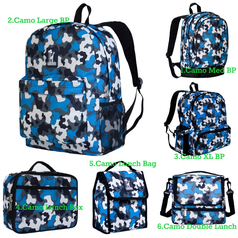 d16576f86554 2019 - Personalized Backpack and Lunch Box Sets, Camo Backpack, Blue Camo  Backpack, Monogrammed Backpacks, Nap Mats
