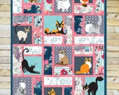 Fabulous Greek Felines A Sew and Flip Quilt-As-You-Go Quilt Pattern - By Mckay Manor Musers