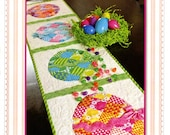 PATCHWORK EASTER EGG Table Runner Pattern - By Jennifer Bosworth-Shabby Fabrics SF48575 ( Free shipping coupon See Description)