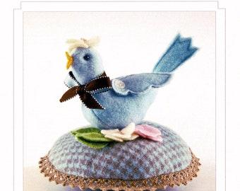 knitted Bird Pinkeep Beaconhillcollect Knitted Bird Pincushion