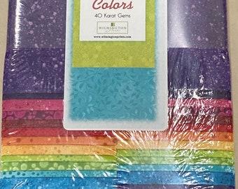 40-2 12 Strips 2 12 Strips Magic Colors 40 Karat Gems By Wilmington Prints