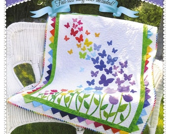 BLOOMING BUTTERFLIES  *A Pieced & Applique Quilt Pattern*   By: Shabby Fabrics  SF48688