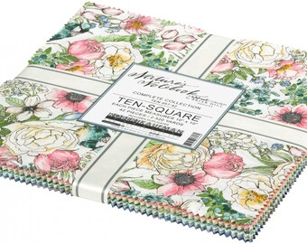 NATURE'S NOTEBOOK   *Layer Cake - 10in x 10in*     By: Wishwell / Robert Kaufman   TEN-957-42