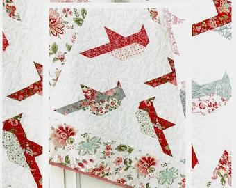 Cardinals *Pieced Quilt Pattern* By: Margot Languedoc - The Pattern Basket