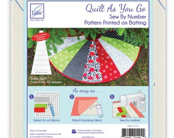 Quilt As You Go Tree Skirt *Pre-Printed Batting* From: June Taylor