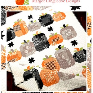 Halloween Ghost Quilt pattern Instructions BOO by PATTERN basket 55 by 65 inches-fat quarter or scrap friendly