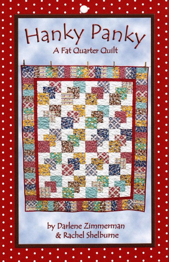 Hanky Panky Great Beginner Quilt By Darlene Zimmerman Etsy