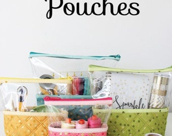 New  -  HELLO POUCHES - By: Kaitlyn Howell of KnotAndThreadDesign  KAT102