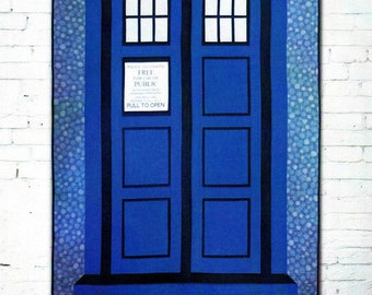 RELATIVELY DIMENSIONAL  *Dr. Who Tardis Call Box Quilt Pattern*  By: Hunter's Design Studio  HDS020