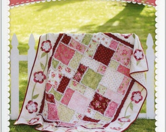 ROSE RAG QUILT Pattern *Welcome Home Flannel! *Fat Quarter & Yardage Friendly! By: Shabby Fabrics