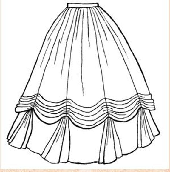 1860 Ball Gown Skirt Pattern Tv 240 By Truely Victorian Etsy
