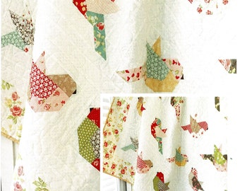 Feathers *Pieced Quilt Pattern*   By: Margot Languedoc - The Pattern Basket