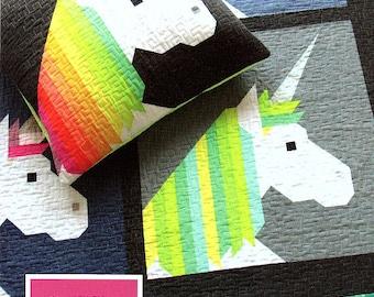 LISA THE UNICORN    *A Jelly Roll Friendly Quilt Pattern*   By: Elizabeth Hartman  EH038