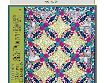 "Sale!  Sale!  ""PICKLE DISH Quilt Pattern    Strip Piecing Method   - By: Robin Ruth - Mariner's Compass"