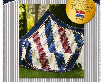 STANDING STRONG * A Patriotic Quilt Pattern*  By: Jennifer Bosworth For Shabby Fabrics  SF48685