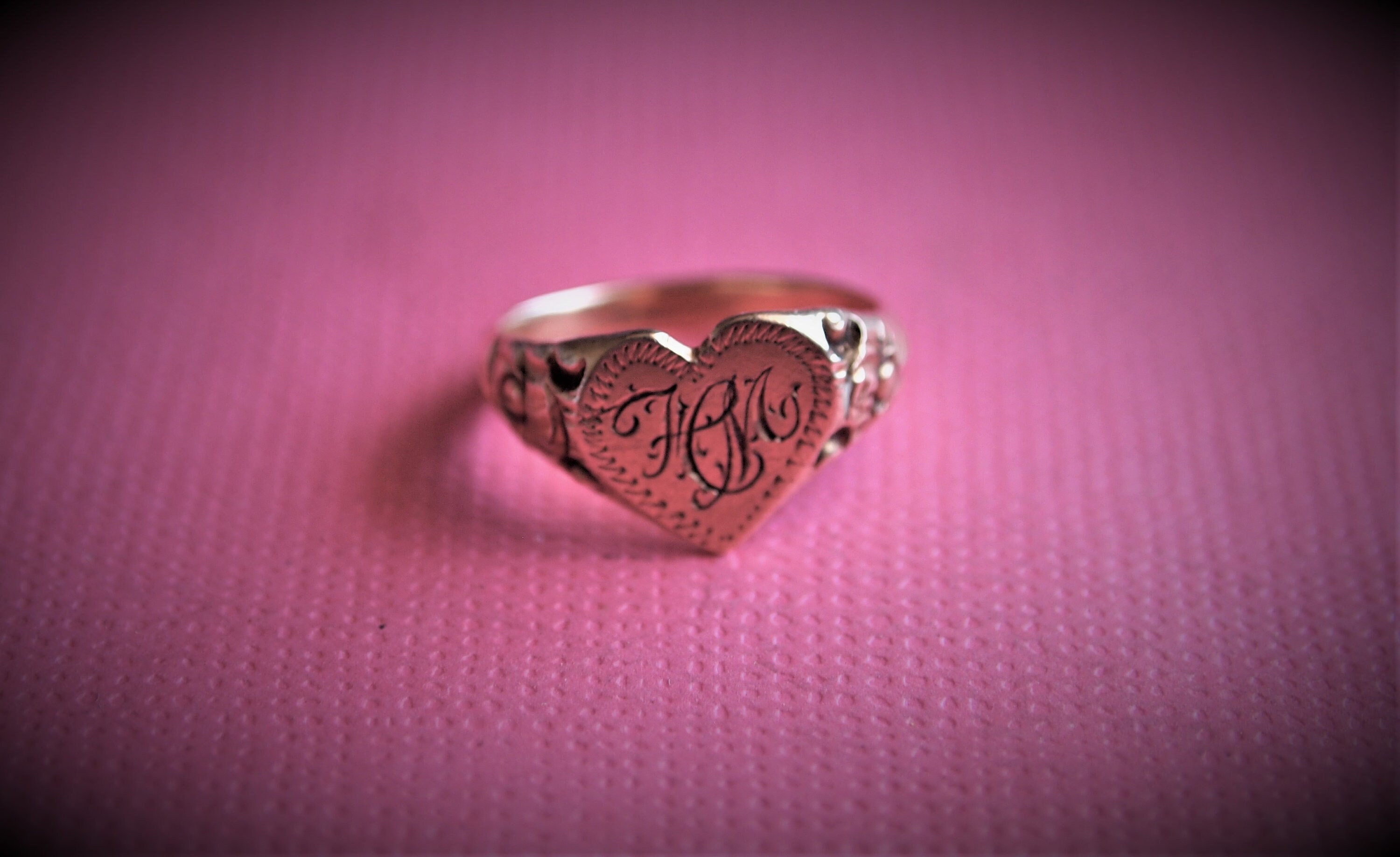 Antique Baby Ring Gold 14 kt Heart Baby Shower Gift Pinky   Etsy