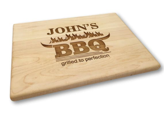 Custom BBQ Cutting Board - Father's Day Gift Backyard Grilled to Perfection
