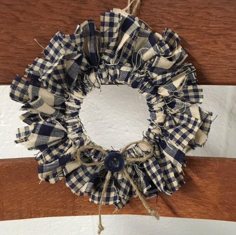 Various Colors Small Mason Jar Rag Wreath