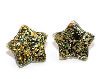 Gold Star Studs Cute Post Earrings Hypoallergenic Lead and Nickel Free Earrings