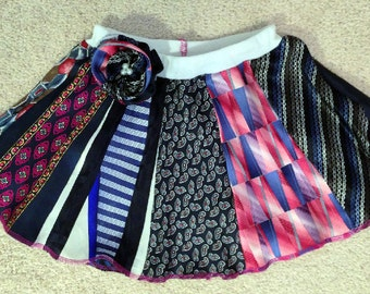 Adorable Skirt from Re-purposed Neckties