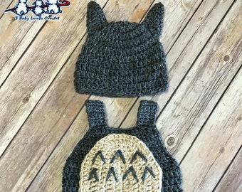 Newborn Baby Crochet Totoro Outfit