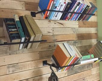 Book shelf / Bookshelf / Industrial Wall Mounted Book Rack