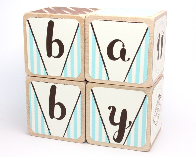 Shabby Chic en bois blocs chambre denfant bébé garçon | Etsy