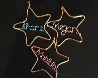 Christmas Star Ornaments - Personalise Stars.