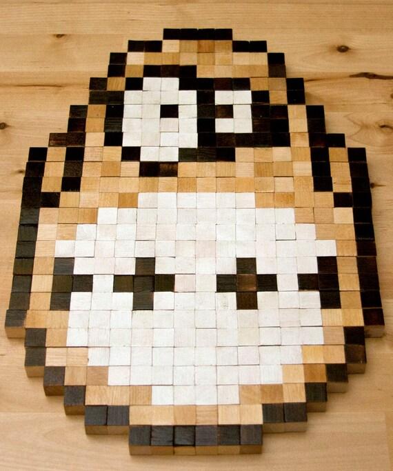 8-bit wall art King Hippo   Etsy