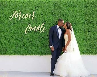 Custom phrase - wedding backdrop decoration