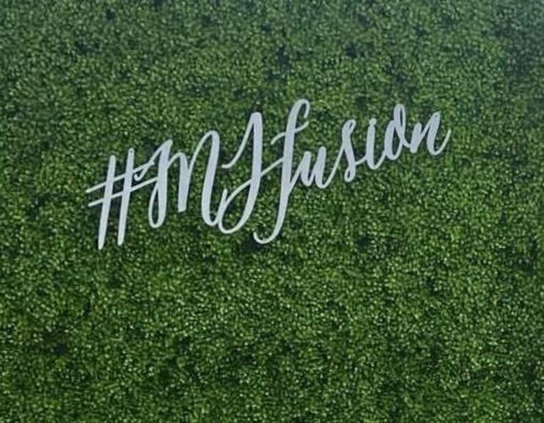 6ft Targhe Hashtag Siepe Muro Sfondo Segno Nel Verde Etsy