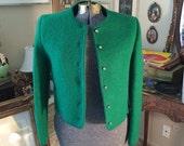 Vintage IRWIN Green Wool Cardigan