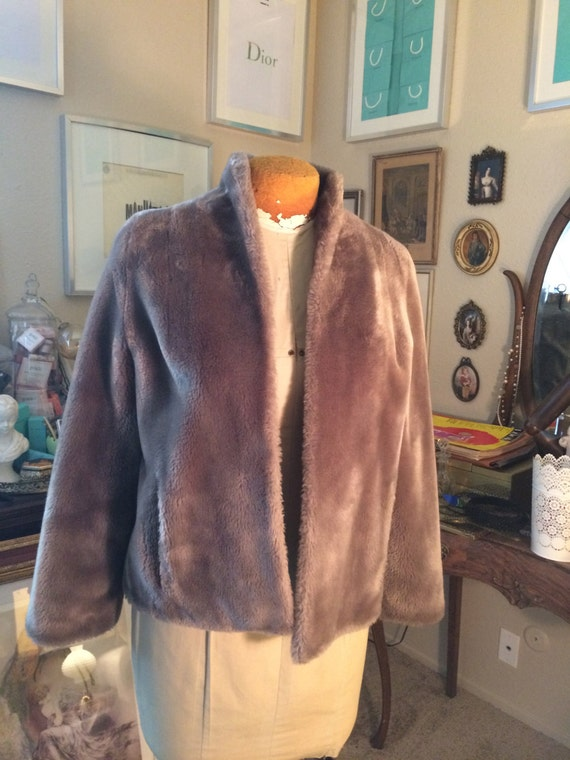 Vintage Borgana Faux Fur Coat-- By Alberchts Fur
