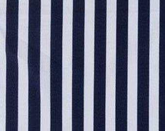 Navy and white Stripe Fabric 100% Cotton Quilting Apparel Crafts Home decor
