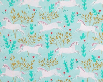 Unicorn Forest Fabric - 100% Cotton Quilting Apparel Crafts Home decor