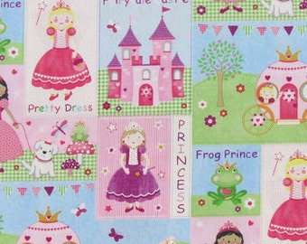 Fairy Tale Castle Fabric -  100% Cotton Quilting Apparel Crafts Home decor
