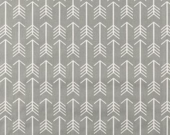 Gray and White Arrow Fabric - 100% Cotton Quilting Apparel Crafts Home decor