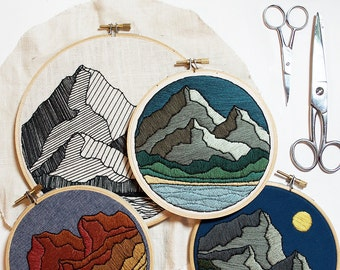 Out of Retirement! - December Mountain Peaks Embroidery Pattern PDF by Sarah K. Benning